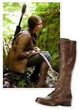 NWT Frye Melissa Tall Lace Brown Leather Women Lace-Up Boots Size 6B MSRP $458
