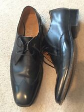 Men's BARKER Flex Black Leather  Shoes - Size 10F Excellent
