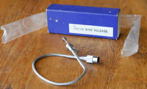 EARLY Nikon Cable Shutter Release blue box F Rangefinder S S2 S4 SP Leica AR2