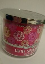 Bath & Body Works White Barn Winter Candy Apple 3 wick 14.5 oz candle