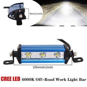 9W Car Off-Road Ultra Thin Single Row LED Spot Fog Work Lamp Bar 6000K IP67