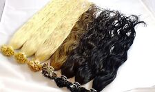 150 CIOCCA indiane capelli veri 40 cm Extensions ondulate INCOLLAGGIO