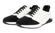 AUTH LUXURY PRADA SNEAKERS SHOES 4E2899 BLACK WHITE NEW 9,5 43,5 44