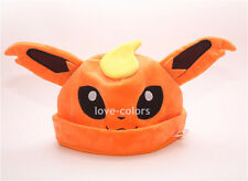Cosplay New Costume Pokemon Orange Adult Soft Plush Hat Cap Beanie Flareon