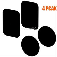 4 Pieces Replacement Metal Plate with Adhesive for Magnetic Phone Mounts in Car