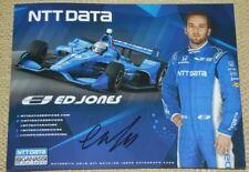 2018 Ed Jones signed NTT Data Honda Dallara Indy Car postcard