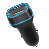 12V Type C PD Quick Charge QC4.0 QC3.0 USB Car Fast Charger For Mobile Phone US