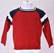 Baby Boy's Nautica 3 Piece Set: Red Sweater, T-Shirt, & Jeans