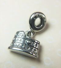 Pandora S925 ALE Colosseum Rome Dangle Charm 791079 With Tissue & Pop-up Box