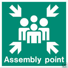 Jalite Fire Assembly Point Safety Sign 300mm x 300mm
