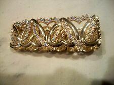 Goldtone Austrian Crystals Free Ship Nolan Miller Signed Bracelet Love Hearts
