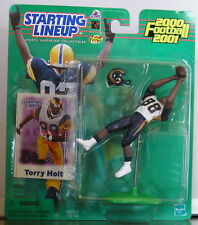 2000 Torry Holt St Louis Ram Rookie Starting Lineup mint in pkg w/ Football Card