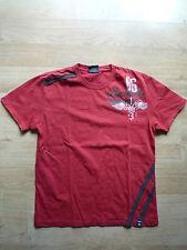 T-shirt, Révolte 86, rouge, blanc avec imprimé, taille M, manches courtes