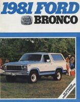 1981 Ford Bronco Truck CDN Sales Brochure Book XLT