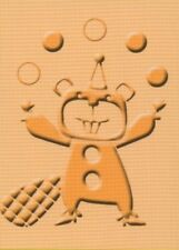 CUTTLEBUG embossing folder BIRTHDAY BASH - CHIPMUNK A2 REDUCED