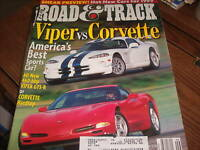 Road & Track Magazine Sept 1998 Viper vs. Corvette