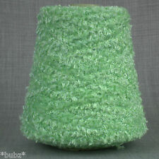 GORGEOUS 4 PLY GLITTER YARN - LIME GREEN 500gram CONE 10 BALLS KNITTING SPARKLE