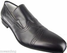 CESARE PACIOTTI TRENDY US 7.5 BLACK WING TIP FASHION LOAFERS MENS SHOES