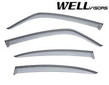For 07-13 Suzuki SX4 Sedan WellVisors Side Window Visors with Black Trim