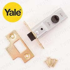 POLISHED BRASS MORTICE TUBULAR LATCH 64mm Genuine Yale Internal Door Catch