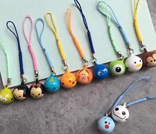 12PCS tsum mickey minnie mix Cell Phone Charm Strap JINGLE BELLS Dangle Figures