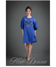 DRESS EMBROIDERED (ROYAL BLUE)