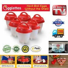 6 pack Egglettes - Egg Cooker Hard Boiled Eggs Silicone Eggies AS SEEN ON TV
