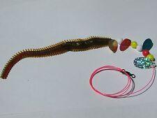 1x Ragworm imitation,sea fishing.25lb SNOOD. 3/0 hook lures bass cod rig