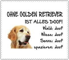 """Displayreinigunstuch Golden Retriever """"ALLES DOOF"""" Brillenputztuch Hund GT0008"""