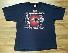 TY LAW and TOM BRADY 2003 AFC Champions NEW ENGLAND PATRIOTS T-Shirt