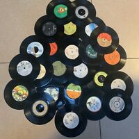 Job Lot 24 x 7 Vinyl Single records for Crafting UpCycling Craft projects Etc