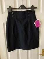 New John Lewis Girls School Pencil Skirt, Navy Blue, Age 12, RRP £15