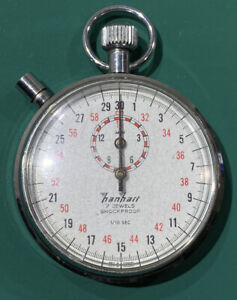 Made in Germany Hanhart 7 Jewels Vintage Mechanical Wind Up Stopwatch