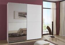 German Queen White 2 Door 180cm Sliding Slider 2 Door Wardrobe
