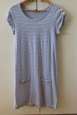 Pretty Blue/White Stripes T Dress from SABA - Size 8