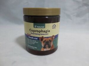 NaturVet Coprophagia Stool Eating Deterrent + Breath Aid, 130 Chew Tabs, BB 1/24