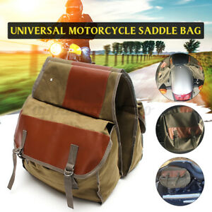 UK 36L Motorcycle Side Canvas Saddle Bags Multi-use Expandable Cover Pannier