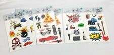 (Lot of 6) Pop Shop Mobile Accessory Stickers 8 Pack Gamer Skater Rock New