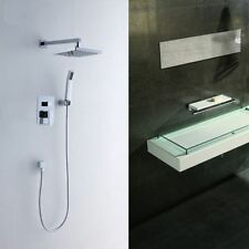 Bathroom Recessed Concealed Square Shower Mixer Set Valve Taps Non Thermostatic