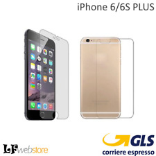 Pellicola Vetro Temperato Apple iPhone 6 Plus Protettiva Display (front Back)