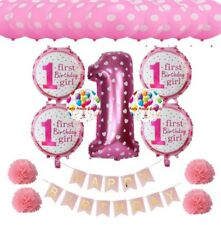 Party : First Birthday Balloon Party Decor Set Pink