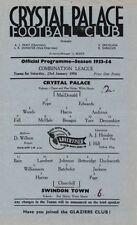 Crystal Palace Football Reserve Fixture Programmes (1950s)