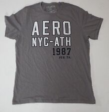 Men's Aeropostale Desinged in NYC Grey Aero-NYC ATH1987 ShortSleeve Tshirt Small