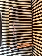 Henri Bendel Clutch Cosmetic Bag Centennial Stripe Pink Izak
