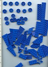 LEGO x 62 Blue Plate Wedge pieces mixed lot NEW