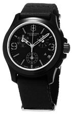 Victorinox Swiss Army Men's Chrono Black Stainless Steel & Nylon Watch 241534
