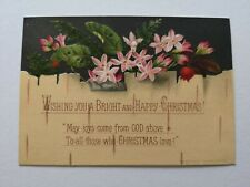 Victorian religious Christmas greeting card scrapbook card topper