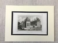 1830 Chateau d Ecouen France Old French Architecture Antique Engraving Print