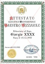 『♥』Pizzaiolo『♥』 Diploma『♥』Urkunde『♥』Attestato『♥』Certificate『♥』07