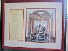 Edwin Markham 1932 Washington the Nation Builder Poem Signed by Author Framed